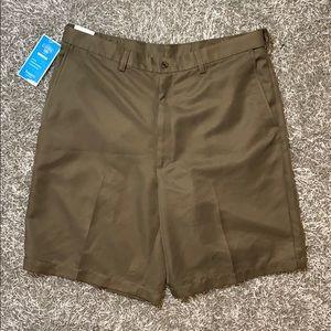 🏝 Haggar men's performance cool shorts sz 36 🏝